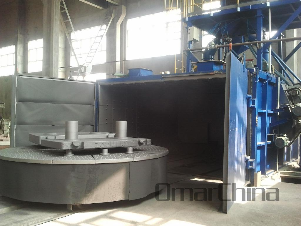 Table Trolley Shot Blasting Machine