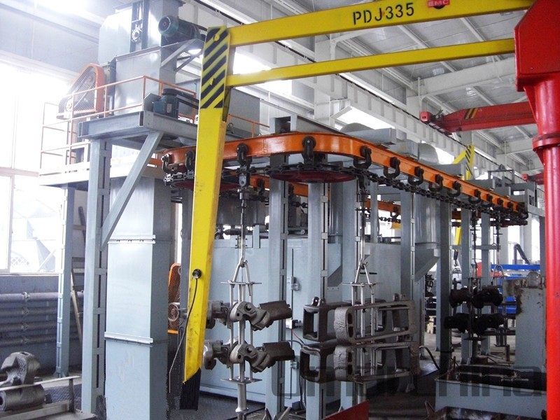 Overhead Monorail Conveyor Shot Blasting Machine